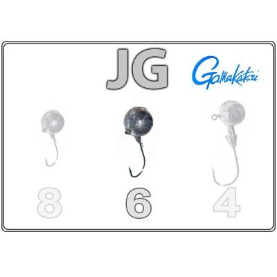 Джиг-головки JG 6 с крючком Gamakatsu