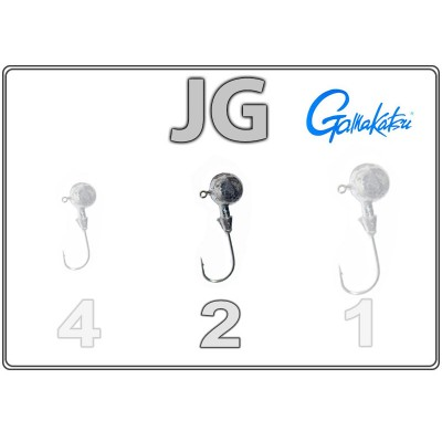 Джиг-головки JG 2 с крючком Gamakatsu