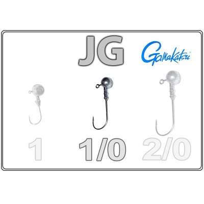 Джиг-головки JG 1/0 с крючком Gamakatsu