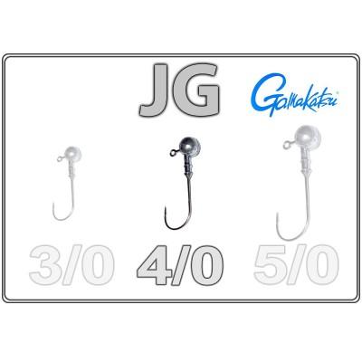 Джиг-головки JG 4/0 с крючком Gamakatsu