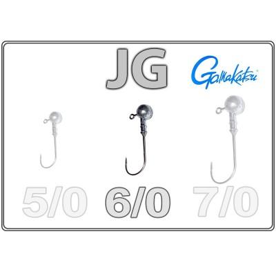 Джиг-головки JG 6/0 с крючком Gamakatsu