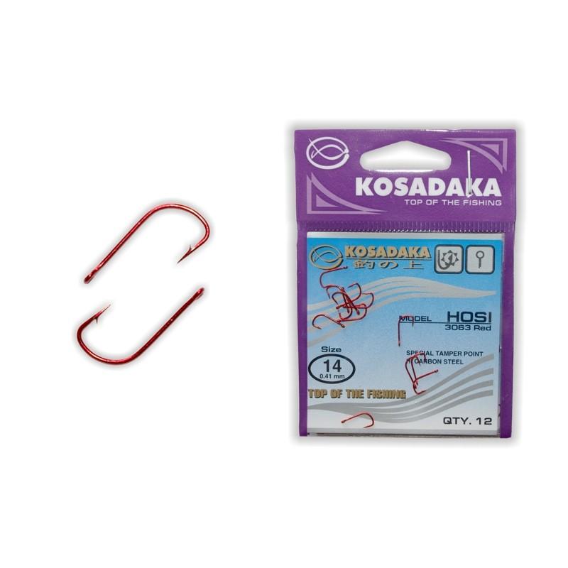 Крючки KOSADAKA Hosi Red - 14