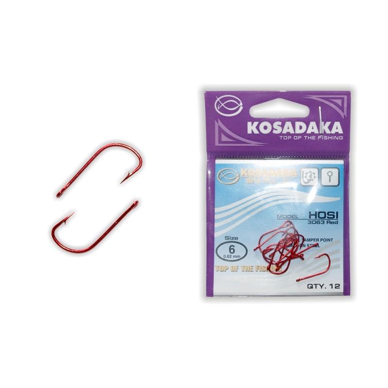 Крючки KOSADAKA Hosi Red - 6