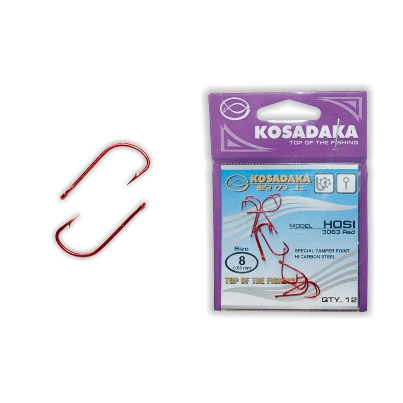 Крючки KOSADAKA Hosi Red - 8