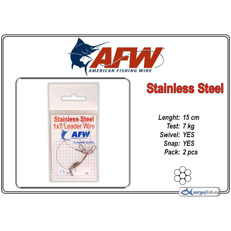Поводок AFW Stainless STEEL 1x7 (15.0 - 7.0)