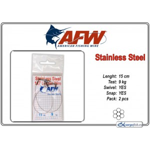 Поводок AFW Stainless STEEL 1x7 (15.0 - 9.0)