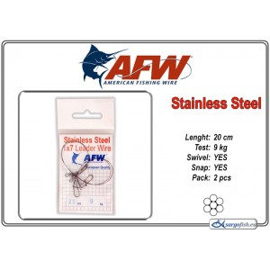 Поводок AFW Stainless STEEL 1x7 (20.0 - 9.0)