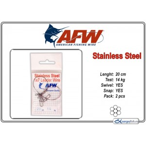 Поводок AFW Stainless STEEL 1x7 (20.0 - 14.0)