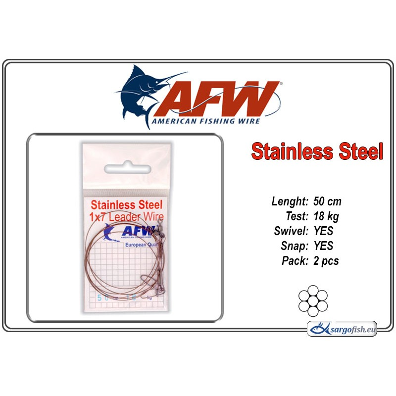 Поводок AFW Stainless STEEL 1x7 (50.0 - 18.0)