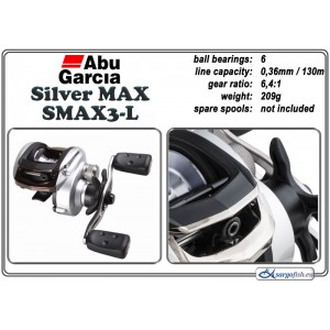 Катушка ABU GARCIA Silver MAX SMAX3 - L
