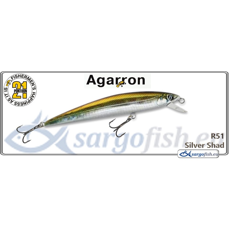Воблер PONTOON 21 Agarron SR 95SF - R51