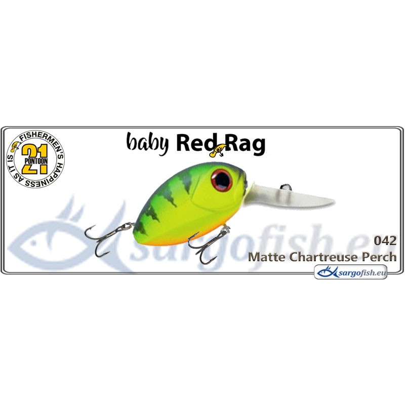 Воблер PONTOON 21 Baby Red Rag MDR 32F - 042