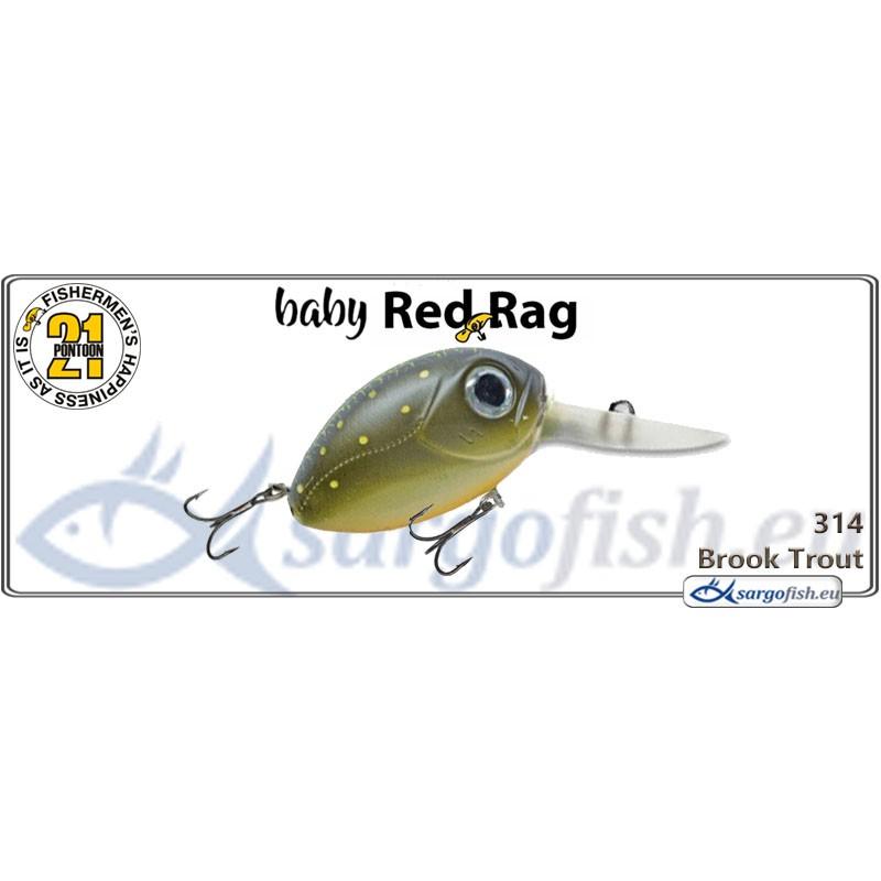 Воблер PONTOON 21 Baby Red Rag MDR 32F - 314