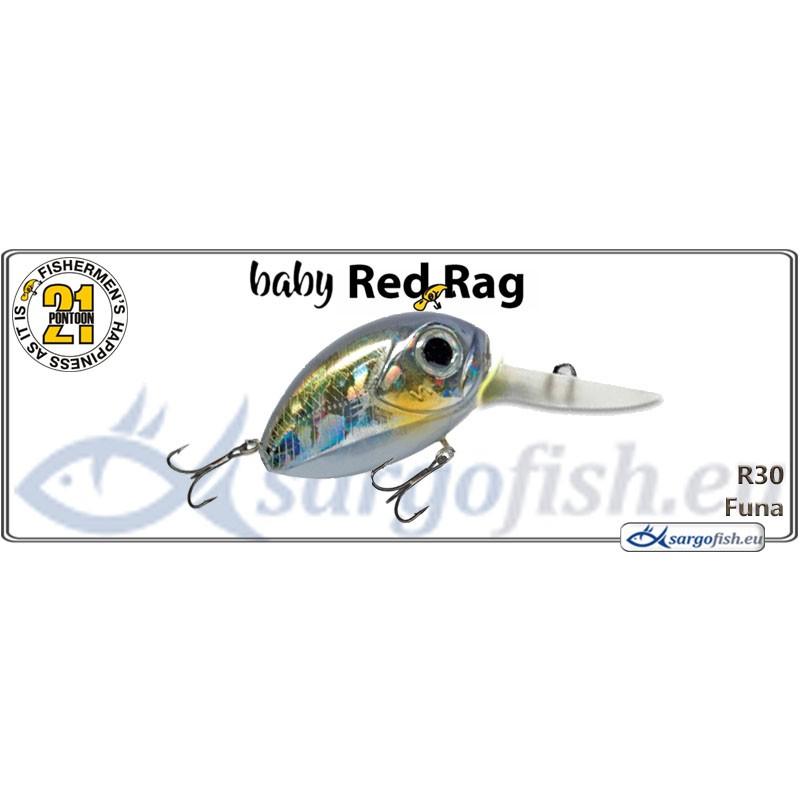 Воблер PONTOON 21 Baby Red Rag MDR 32F - R30
