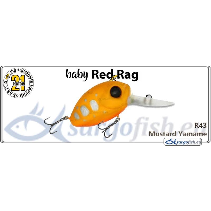 Воблер PONTOON 21 Baby Red Rag MDR 32F - R43