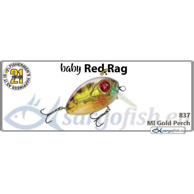 Воблер PONTOON 21 Baby Red Rag SR 32F - 837