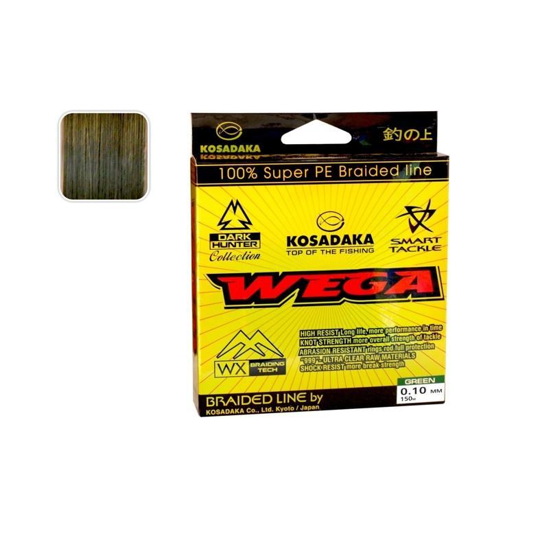 Плетеная леска KOSADAKA Wega green - 0.10