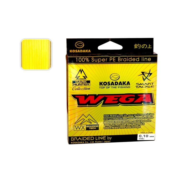 Плетеная леска KOSADAKA Wega yellow - 0.10