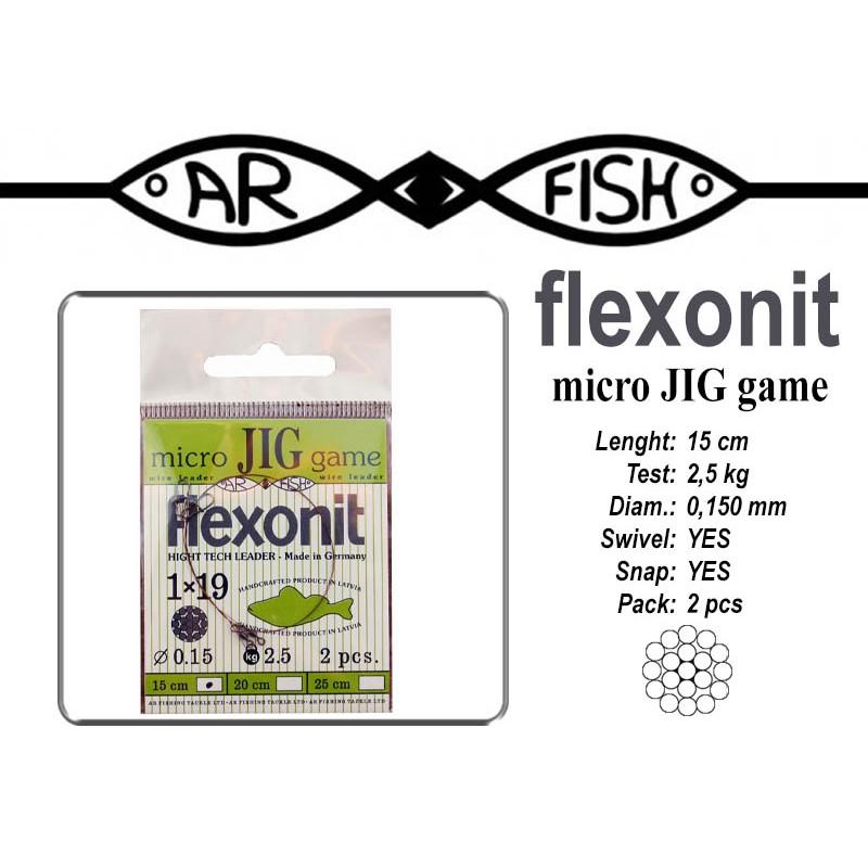 Поводок AR FISH Flexonite MICRO JIG game 1x19 (0.150 - 15)