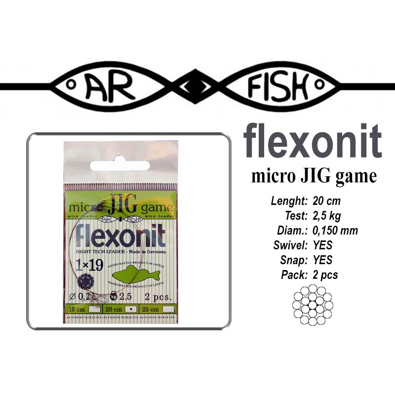 Поводок AR FISH Flexonite MICRO JIG game 1x19 (0.150 - 20)