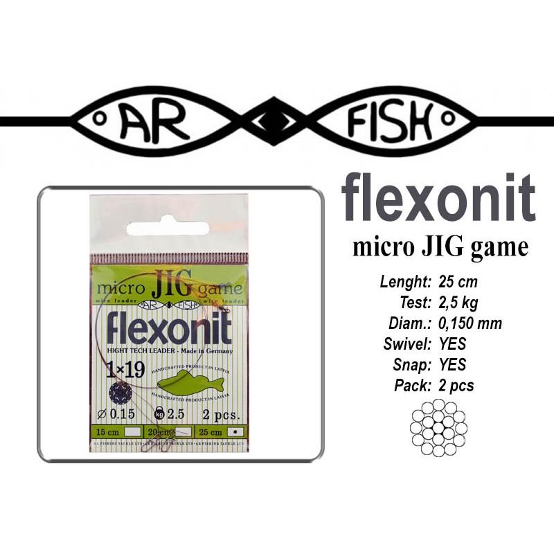 Поводок AR FISH Flexonite MICRO JIG game 1x19 (0.150 - 25)