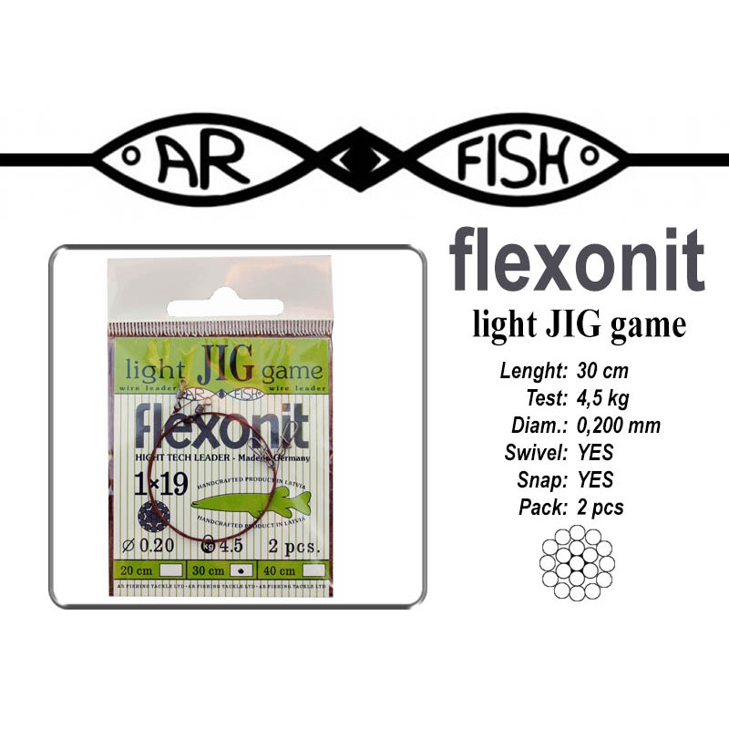 Поводок AR FISH Flexonite LIGHT JIG game 1x19 (0.200 - 30)