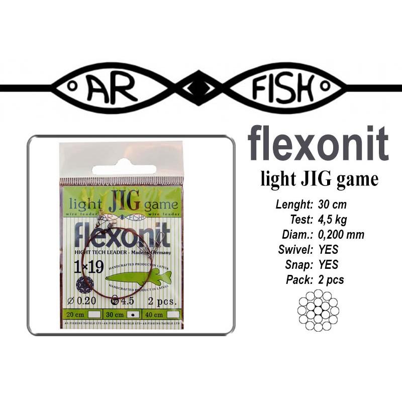Поводок AR FISH Flexonite LIGHT JIG game 1x19 (0.200 - 30)