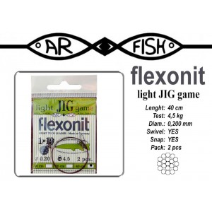 Поводок AR FISH Flexonite LIGHT JIG game 1x19 (0.200 - 40)