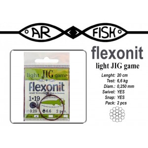 Поводок AR FISH Flexonite LIGHT JIG game 1x19 (0.250 - 20)