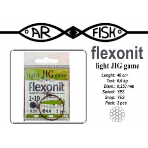 Поводок AR FISH Flexonite LIGHT JIG game 1x19 (0.250 - 40)