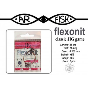 Поводок AR FISH Flexonite CLASSIC JIG game 7x7 (0.360 - 25)