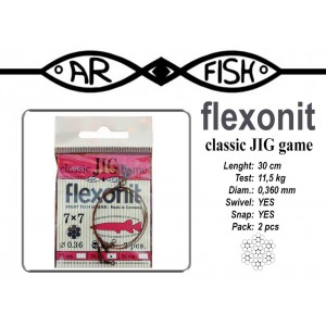 Поводок AR FISH Flexonite CLASSIC JIG game 7x7 (0.360 - 30)