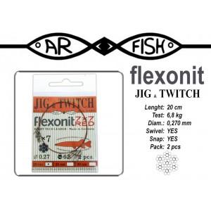 Поводок AR FISH Flexonite Jig-n-Twitch 7x7 red (0.270 - 20)