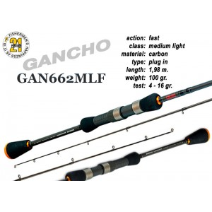 Спиннинг PONTOON 21 GanchO 662MLF - 198, 4-16
