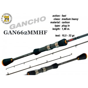 Спиннинг PONTOON 21 GanchO 662MMHF - 198, 10.5-32