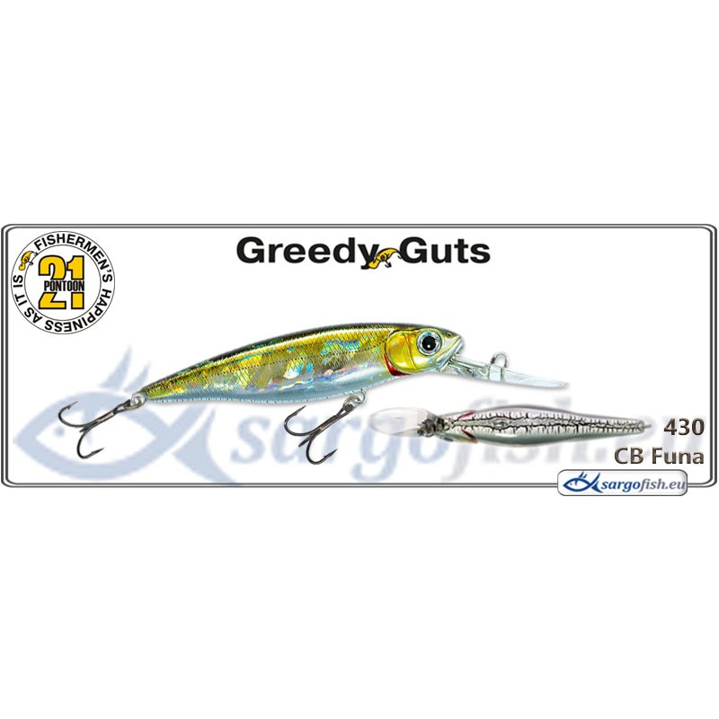 Воблер PONTOON 21 Greedy GUTS MDR 77F - 430