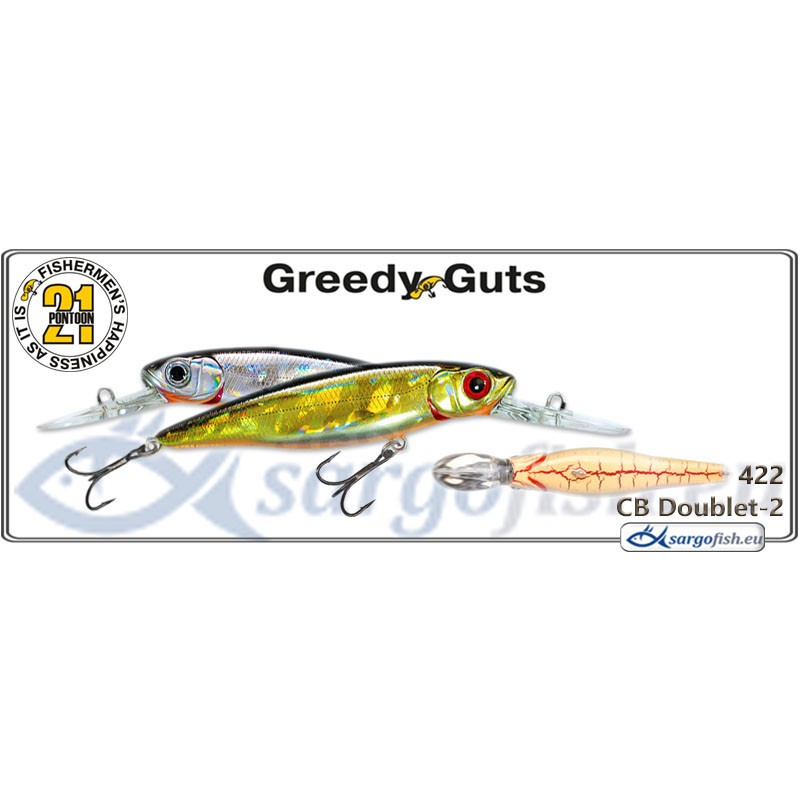 Воблер PONTOON 21 Greedy GUTS MDR 88F - 422