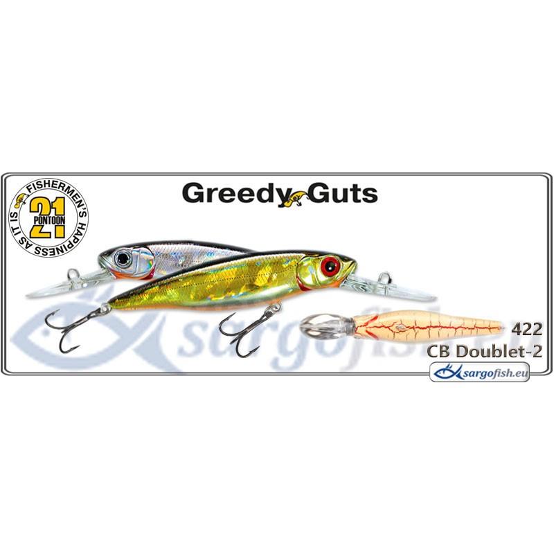 Воблер PONTOON 21 Greedy GUTS MDR 88F - 422