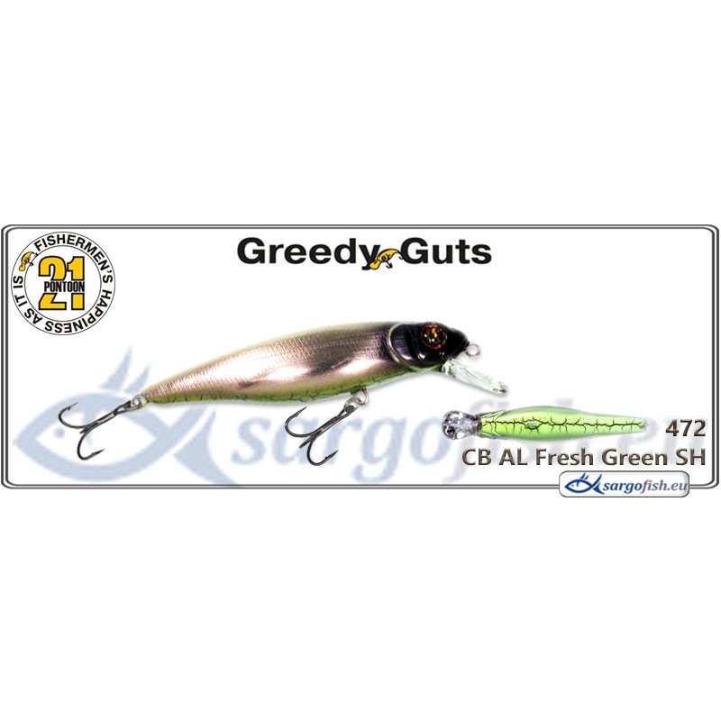 Воблер PONTOON 21 Greedy GUTS SR 88F - 472