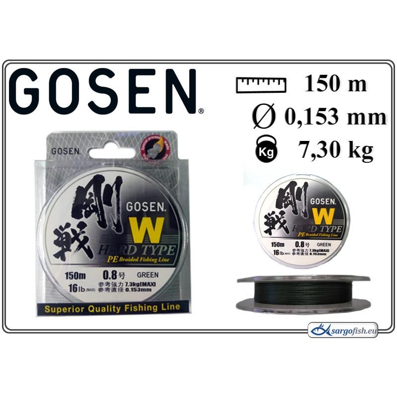 Плетеная леска GOSEN W Hard TYPE PE - 0.8