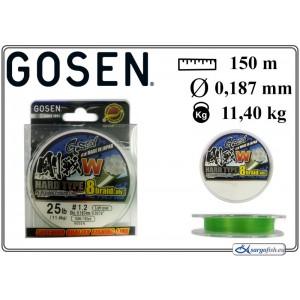 Плетеная леска GOSEN W Hard TYPE x8 - 1.2
