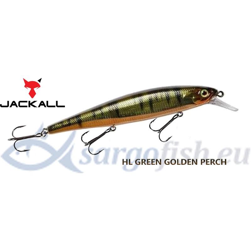 Воблер JACKALL MagSquad 128SP - HL Green Golden Perch