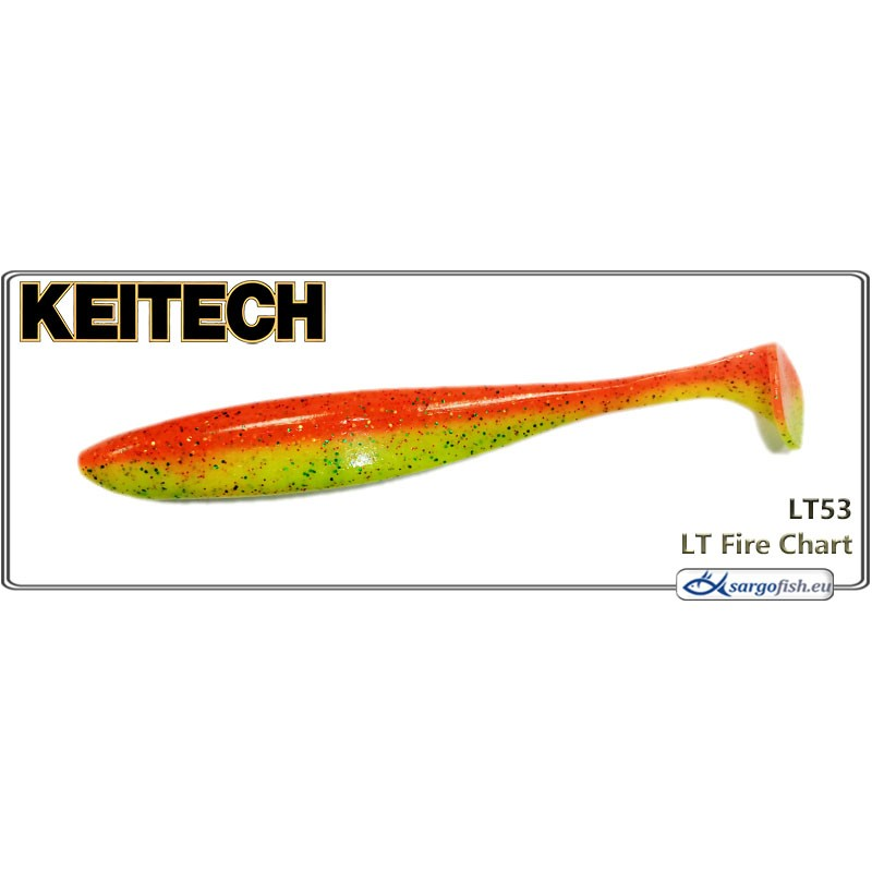 Силиконовая приманка KEITECH Easy SHINER 4.5 - LT53