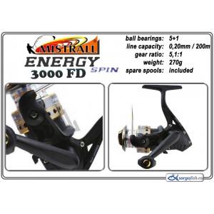Катушка MISTRALL Energy - 3000 FD