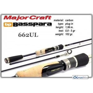 Спиннинг MAJOR CRAFT BP BassPARA 662UL - 201, 0.9-5.3