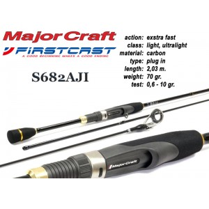 Спиннинг MAJOR CRAFT FirstCAST S682AJI - 203, 0.6-10