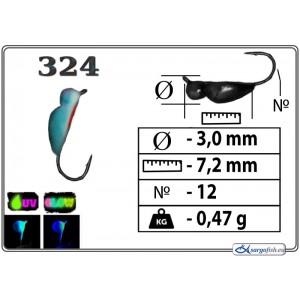 Мормышка ЖУК - 324+Ph+UV