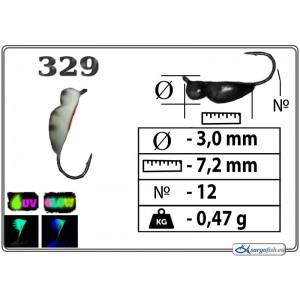Мормышка ЖУК - 329+Ph+UV