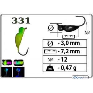 Мормышка ЖУК - 331+Ph+UV