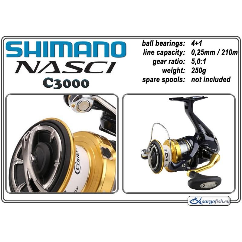 Катушка SHIMANO Nasci - C3000